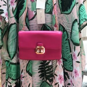 Ted Baker London Leather Magenta Handbag NEW
